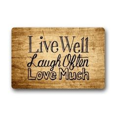 Heymat Custom Welcome Vintage Wood Pattern With Live Laugh Love Rectangle Entryways Doormat Indoor/Outdoor Doormat Fabric Non Slip Bathroom Doormat Carpet Mats 23.6 X 15.7 Inch >>> For more information, visit image link. (This is an affiliate link and I receive a commission for the sales)
