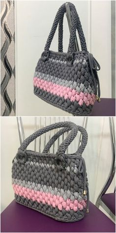 Unique Designs of Amazing Crochet Handbag & Accessories - DIY Rustics Crochet Clutch Bags, Crochet Handbags, Crochet Purses, Crochet Socks, Crochet Yarn, Crochet Designs, Crochet Patterns, Crochet Ideas, Fashion Handbags