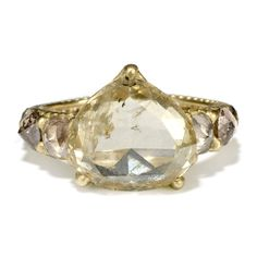 Polly Wales: Exclusice 5ct Diamond & Yellow Gold Ring