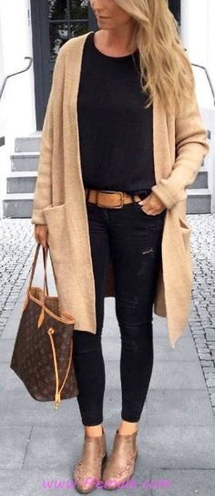 42 Simple Outfit Ideas to Upgrade Your Look This Fall - Outfits - Roupas Simple Fall Outfits, Fall Fashion Outfits, Mode Outfits, Fall Winter Outfits, Autumn Fashion, Casual Outfits, Diy Fashion, Olive Outfits, Fall Fashions