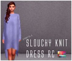 Simsworkshop: Slouchy Knit Dress by Sympxls • Sims 4 Downloads