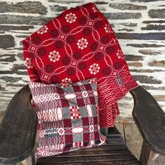 fforest Welsh Wool coldatnight Blanket in Berry Red