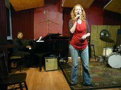 Sandra performing at Zeb's, NY