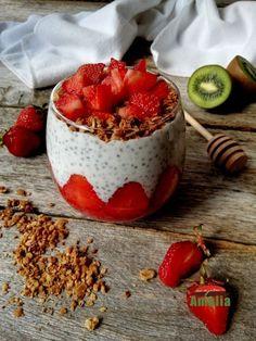 Chia, Granola, Quinoa, Acai Bowl, Panna Cotta, Breakfast, Ethnic Recipes, Food, Acai Berry Bowl