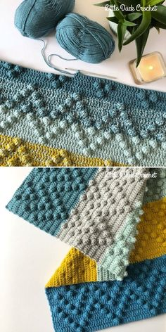 Chevron Bobble Blanket by Little Duck Crochet Fun Bobble Stitch Ideas Chevron is timeless and always looks good Whether you are making baby blanket or try to create stunning accessory for your Afghan Patterns, Crochet Blanket Patterns, Crochet Stitches, Knitting Patterns, Modern Crochet Patterns, Knitting Ideas, Crochet Bobble Blanket, Modern Crochet Blanket, Rainbow Crochet Blankets
