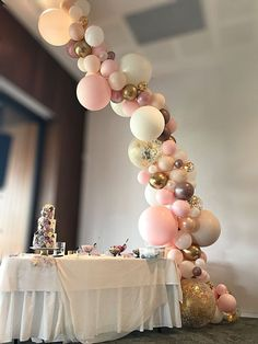 Blush, gold, confetti and mauve wedding balloon garland Stylish Soirees Perth - Balloon Decorations 🎈 Bubblegum Balloons, Rose Gold Balloons, Confetti Balloons, Wedding Balloons, Garland Wedding, Birthday Balloon Decorations, Birthday Balloons, Wedding Decorations, Balloon Arch