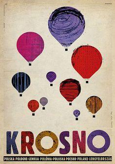 Krosno, Balloons, Polish Promotion Poster by Ryszard Kaja