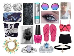 """""""Fun Day at the Beach with Luke Hemmings"""" by kitty-styles-horan-biedka ❤ liked on Polyvore featuring WithChic, Chapstick, Sunday Somewhere, Old Navy, Disney, Betsey Johnson, Colortone, Peach Couture, Lilly Pulitzer and Forever 21"""