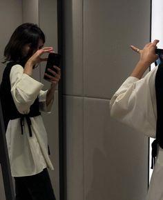 Joanna Halpin, Closet Essentials, Black Turtleneck, White T, Vintage Coat, Shades Of Black, Virtual Closet, Collar Shirts, Korean Fashion
