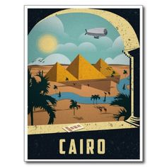 Cairo Egypt Vintage Travel Tourism Art