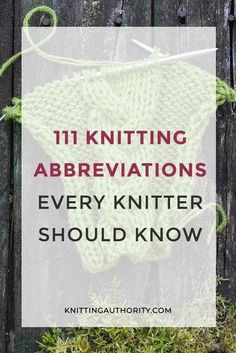 Now sure what abbreviations in a knitting pattern mean Check out our list of abbreviations and their meanings It makes knitting easy knitting abbreviations handknit knittingauthority Knitting Abbreviations, Knitting Terms, Beginner Knitting Patterns, Knitting Basics, Knitting Help, Knitting Stiches, Knitting Blogs, Knitting Kits, Knitting Tutorials