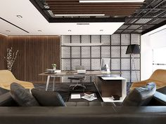 Bank & Office Design – Executive Home Office Design Corporate Office Design, Modern Office Design, Corporate Interiors, Office Interior Design, Office Interiors, Home Interior, Office Designs, Ceo Office, Luxury Office