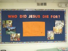 Easter bulletin board...put kid's pictures on the board  Add a mirror