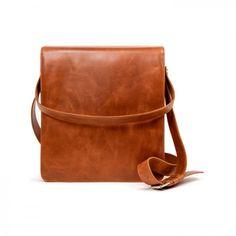 leather bag Bil upend (Cognac), blue lining