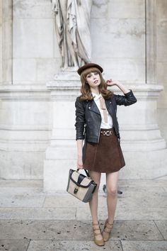 Louise Ebel - Miss Pandora pour Lancel - Sac à main Fashion Shoot, Girl Fashion, Fashion Outfits, Spring Fashion, Louise Ebel, Beret Outfit, Style Parisienne, Topshop, Pandora