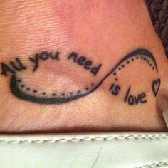 Love Quote Tattoo on Foot | Cool Tattoo Designs