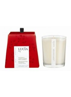 Lucia Mandarin and Tomato Flower Soy Candle