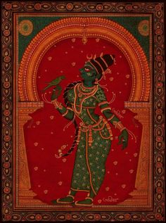 "Pattachitra "" Meenakshi "" Art by Avinab Mukherjee from West bengal india"