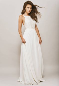 20 elegant minimalist wedding dresses in Meghan Markle style - Estilo Meghan Markle, Meghan Markle Stil, Minimalist Wedding Dresses, White Wedding Dresses, Halter Wedding Dresses, Elegant Wedding, Rustic Wedding, Boho Wedding, Inexpensive Wedding Dresses