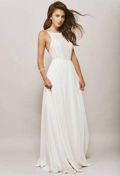 20 Elegant Minimalist Wedding Dresses | SouthBound Bride | Halter Wedding Dress by Kala Kala Bridal