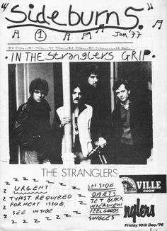 Sideburns issue #1 (1977) | MORE INFO: http://stillunusual.tumblr.com/post/156011190926/sideburns-fanzine