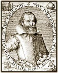 17th Century engraving of Captain John Smith.