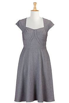 I <3 this Stretch suiting banded empire plus size dress from eShakti