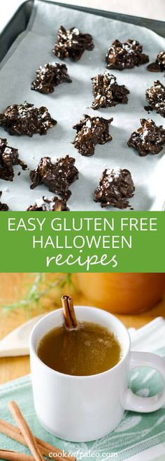 Easy Halloween treats that are gluten and dairy free—all the joys (read candy and treats!) of Halloween without gluten and dairy? Yes please! Chocolate candy bar recipes... ~ http://cookeatpaleo.com