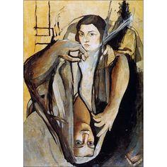 * Salvador Dali - - - Portret van mijn zus met daartegenover een figuur van Picasso