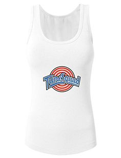 Space Jam Tune Squad for 2016 womens racerback tank tops White Small * Visit the image link more details. Note:It is affiliate link to Amazon.