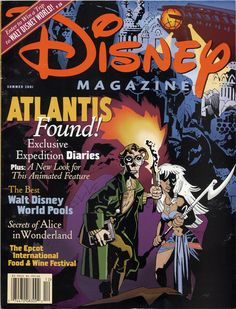 Collection: Disney Magazine featuring Atlantis art by Mike Mignola. Summer 2001.