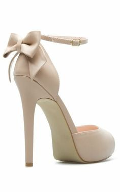 Nude Bow Back Heels <3 not usually into heels, but these are just adorable!