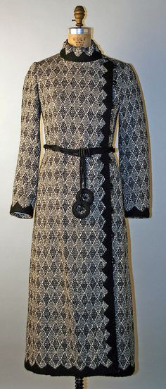 Coat, Yves Saint Laurent, F/W 1970-71, French, wool, silk and plastic