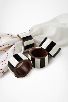 black and white stripe napkin rings, EASY DIY