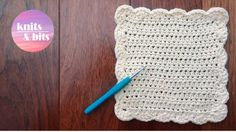 How to crochet a dishcloth / washcloth - Easy step by step for beginners...