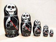 Skeleton nesting dolls