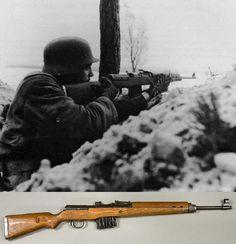The Gewehr 43 or Karabiner 43 7.92×57mm Mauser caliber semi-automatic German rifle.