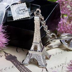 Eiffel Tower Key Chain Favors [328-5220 Eiffel Tower Keychain] : Wholesale Wedding Supplies, Discount Wedding Favors, Party Favors, and Bulk Event Supplies