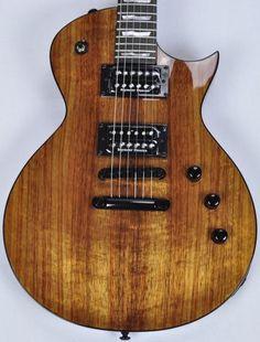 ESP LTD Deluxe EC-1000 KOA Top Guitar in Natural Esp Guitars, Seymour Duncan, Studio Gear, Guitar For Beginners, Beautiful Guitars, Music Guitar, Improve Yourself, Nature, Free Shipping