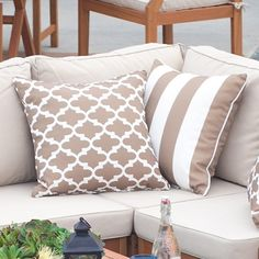 Coral Coast Lakeside 14 x 16 in. Outdoor Toss Pillow - Set of 2