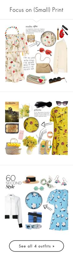 """Focus on (Small) Print"" by taci42 ❤ liked on Polyvore featuring Fendi, Margo Morrison New York, Casa de Vera, Mar y Sol, Henri Bendel, Acne Studios, Grace, Yves Saint Laurent, Thirstystone and Maybelline"