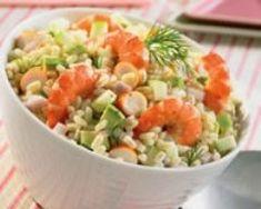 Salade d'ebly cocktail (facile, rapide) - Une recette CuisineAZ Salad Recipes, Snack Recipes, Healthy Recipes, Snacks, Bento, Cobb Salad, Potato Salad, Salsa, Buffet