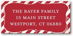 Holiday Return Address Labels Sweet and Small - Front : Winterberry