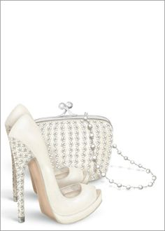 shoes clutch pearls