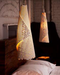 Cmesh Collection by Scott Daniel Design - Design Milk Ceramic Light, Ceramic Pendant, Ceramic Lamps, Raku Pottery, Lamp Design, Lighting Design, Zen Design, Design Art, Light Art