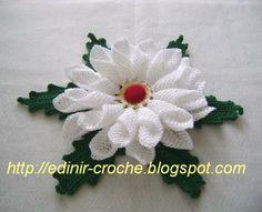 Crochet flower + video tutorial, chart