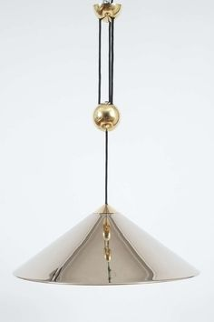 Florian Schulz Chrome Brass Counterweight Pendant | From a unique collection of antique and modern chandeliers and pendants  at http://www.1stdibs.com/furniture/lighting/chandeliers-pendant-lights/
