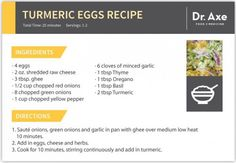 Turmeric Eggs Recipe, Dr. Axe Recipe Card