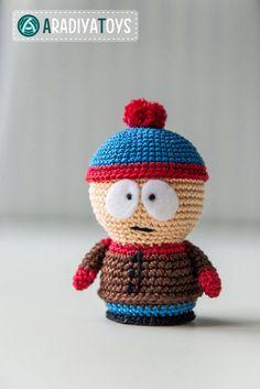 South park Stan amigurumi crochet pattern by AradiyaToys