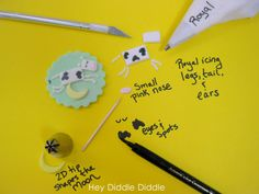 Nursery Rhyme cupcake toppers for baby shower~ a blog tutorial